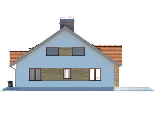 Groszek dach dwuspadowy - Elewacja prawa