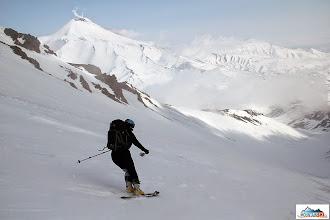 Photo: Skier: Marta, location: volcano Koryaksky, Kamchatka-peninsula