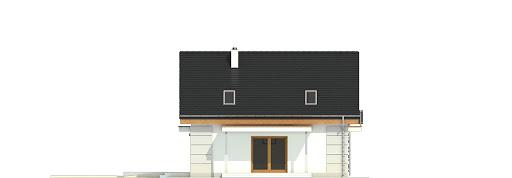 Nowinka V z garażem i wiatą bliźniak A1-BL1 - Elewacja prawa