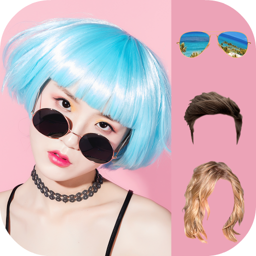 Sunglasses and Hairstyle Photo Editor Icon