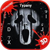Scream Ghost Face 3D Theme&Emoji Keyboard