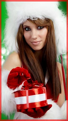 圣诞脸部照片蒙太奇