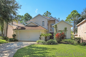 Orlando villa, gated community, south-facing private pool and spa, golf course views