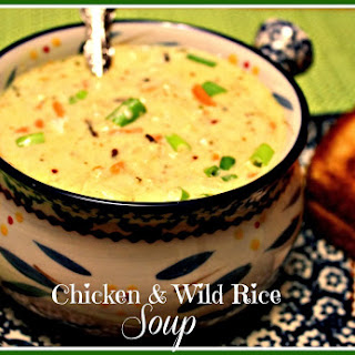 Creamy Chicken & Wild Rice Soup!.