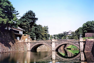 Photo: Tokio - Pałac Cesarski (most Niju-bashi) / Tokyo - Imperial Palace (Niju-bashi bridge)