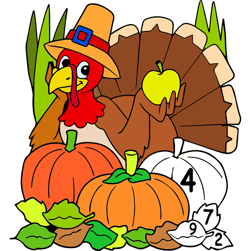 Thanks Giving Color by Number: Adult Coloring Book Icon