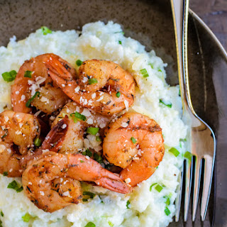 Skinny Cajun Shrimp and Grits.