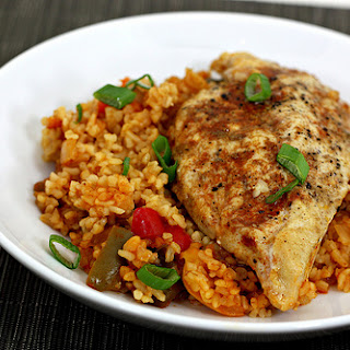 Chicken with Bulgur and Peppers.