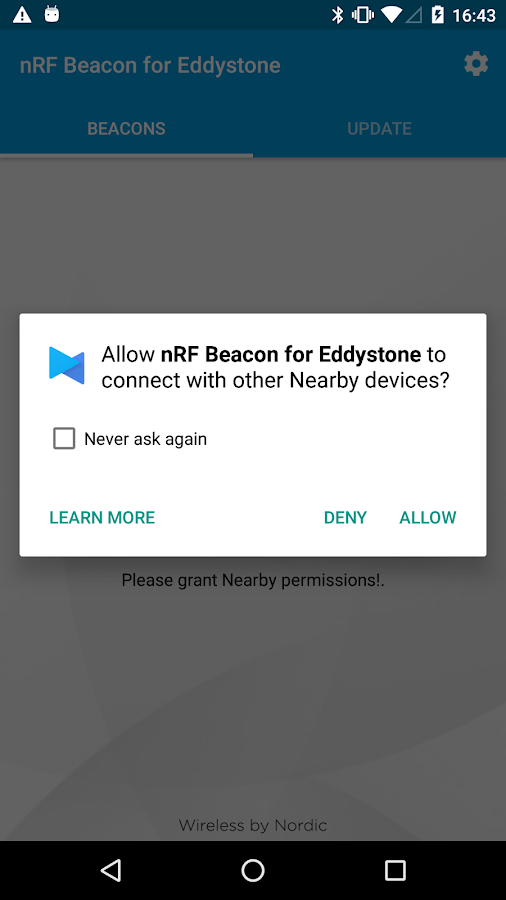 nRF Beacon for Eddystone- screenshot