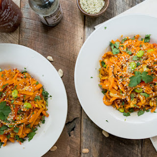 Sweet Potato Pad Thai with Sriracha Sauce