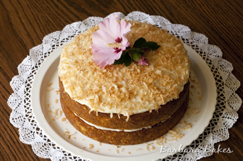 Tropical Carrot Cake with Coconut Cream Cheese Frosting Recept ...