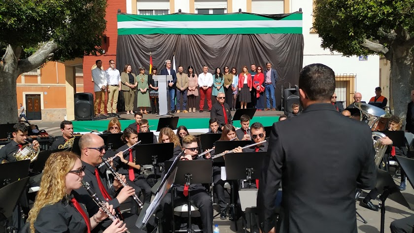 Celebración del Día de Andalucía en Huércal el año pasado.