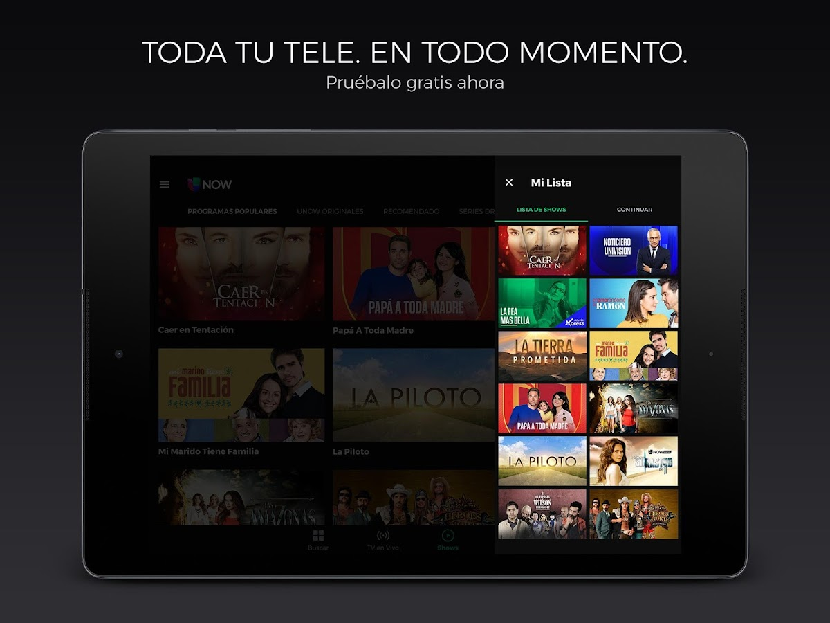 Univision NOW: TV en vivo y on demand - Android Apps on Google Play