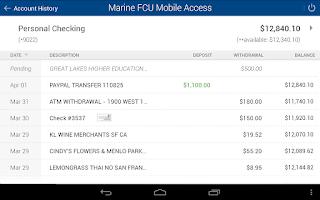 Screenshot of Marine FCU Mobile Access