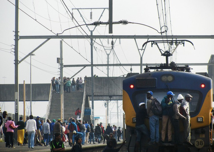 A Metrorail train in Cape Town. File photo