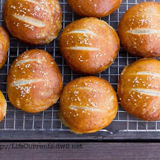 Soft Pretzel Buns Recipe