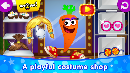 Funny Food DRESS UP games for toddlers and kids! - screenshot