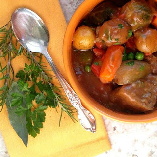 Old Fashioned Slow Cooker Beef Stew.