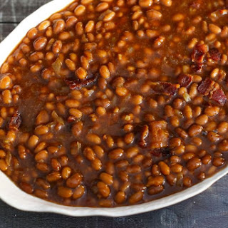 5 Ingredient Slow Cooker Beans With Bacon.