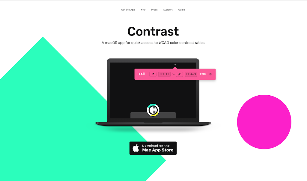 Contrast accessibility tool