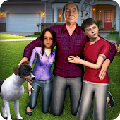 Virtual Grandpa: Happy family Simulator