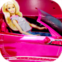 her Barbie car Doll icon