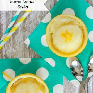 Meyer Lemon Sorbet.