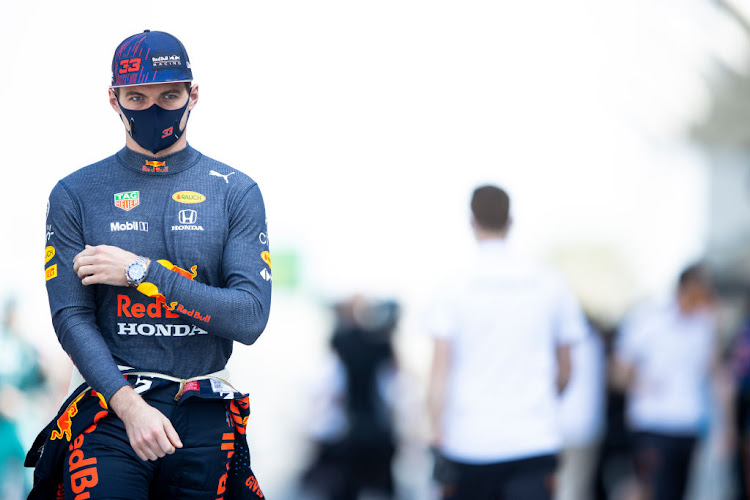 Max Verstappen of Netherlands and Red Bull Racing walks in the pitlane during F1 testing at Bahrain International Circuit on March 12 2021.
