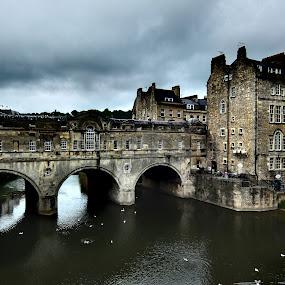 Pulteney Bridge, Bath by Steve Cooke - City,  Street & Park  Historic Districts (  )
