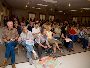 Photo: Las Conchas Fire; New Mexico; 2011; Dugger Hughes' SWIMT leads a community meeting in Cochiti Lake on July 11
