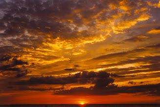 Photo: Sunset Over Long Beach Island, NJ   (scanned from a 1994 4x6 print)