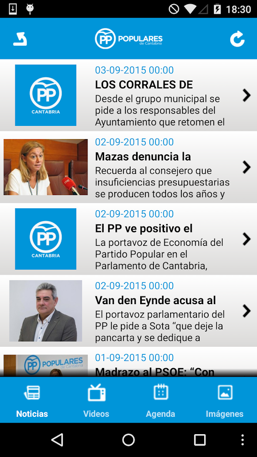Populares Cantabria- screenshot