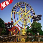 Thorpe Park map for MCPE