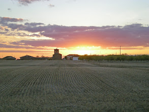 Photo: Etapa 16. Posta de sol. Terradillos de Templarios.
