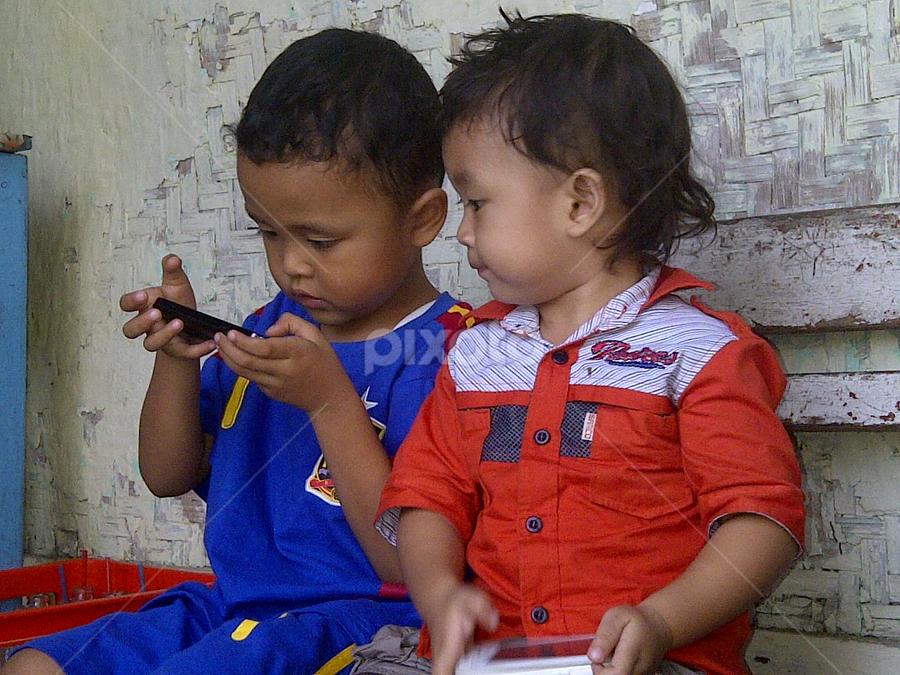 with Gadget by Putra Galuh - Babies & Children Children Candids