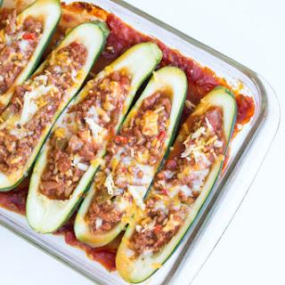 Spicy Taco Zucchini Boats