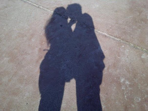 Photo: Me and hubby kissing. Cute huh?