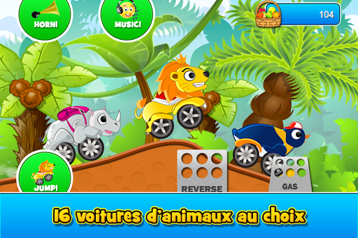Animal Cars Kids Racing Game  captures d'écran 2
