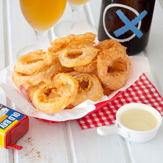 Old Bay Onion Rings and Lemon Dipping Sauce