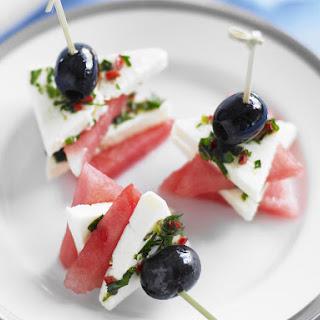 Feta, Watermelon and Olive Bites