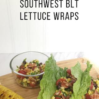 Gluten-free Dairy-Free Southwest BLT Lettuce Wraps.