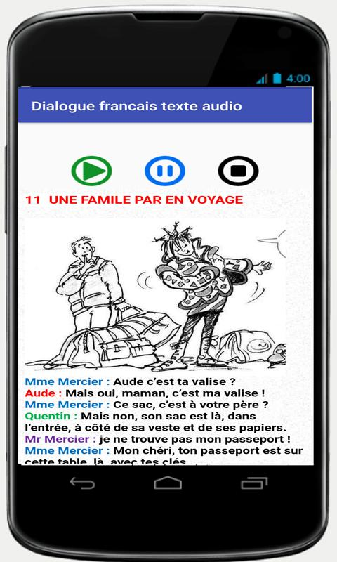 french conversations for beginners audio texte- screenshot