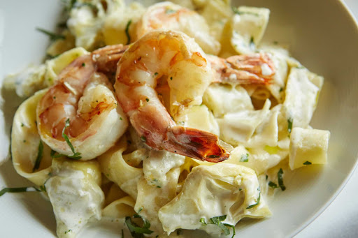 HAL-Canaletto-Paparadelle-with-Shrimp.jpg - Paparadelle with shrimp served at Canaletto on your Holland America cruise.