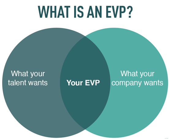 Graph showcasing what an employee value proposition is