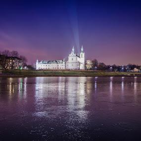 Church on the Rock ( Krakow ) by Andrej Folo - Buildings & Architecture Public & Historical ( purple, church, ice, sunrise )