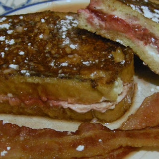 Strawberry & Cream Cheese Stuffed French Toast.