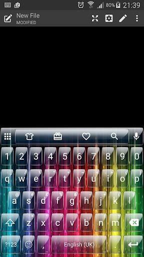 Glass Rainbow Emoji Keyboard