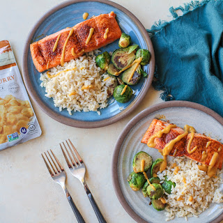 Coconut Curry Roasted Salmon.