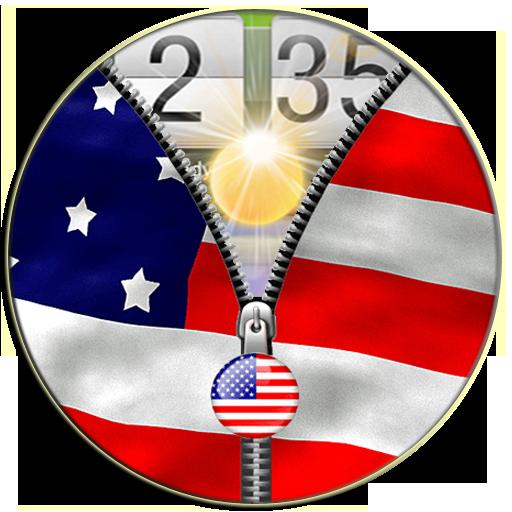 美国国旗拉链锁 生活 App LOGO-APP開箱王