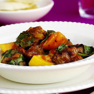 Lamb, Spinach and Potato Curry.